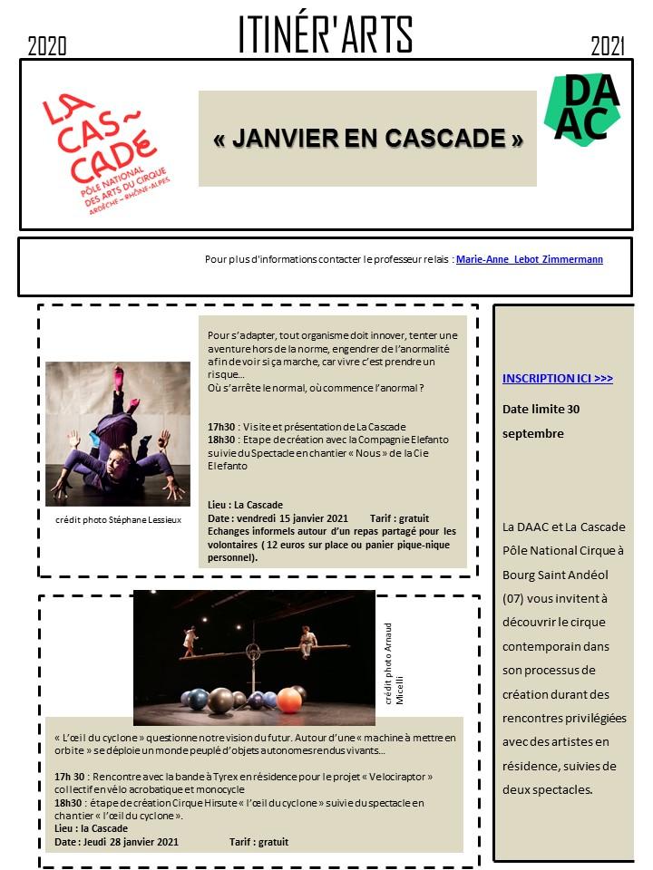 Itinérart 07 - Janvier en cascade- La Cascade 20-21