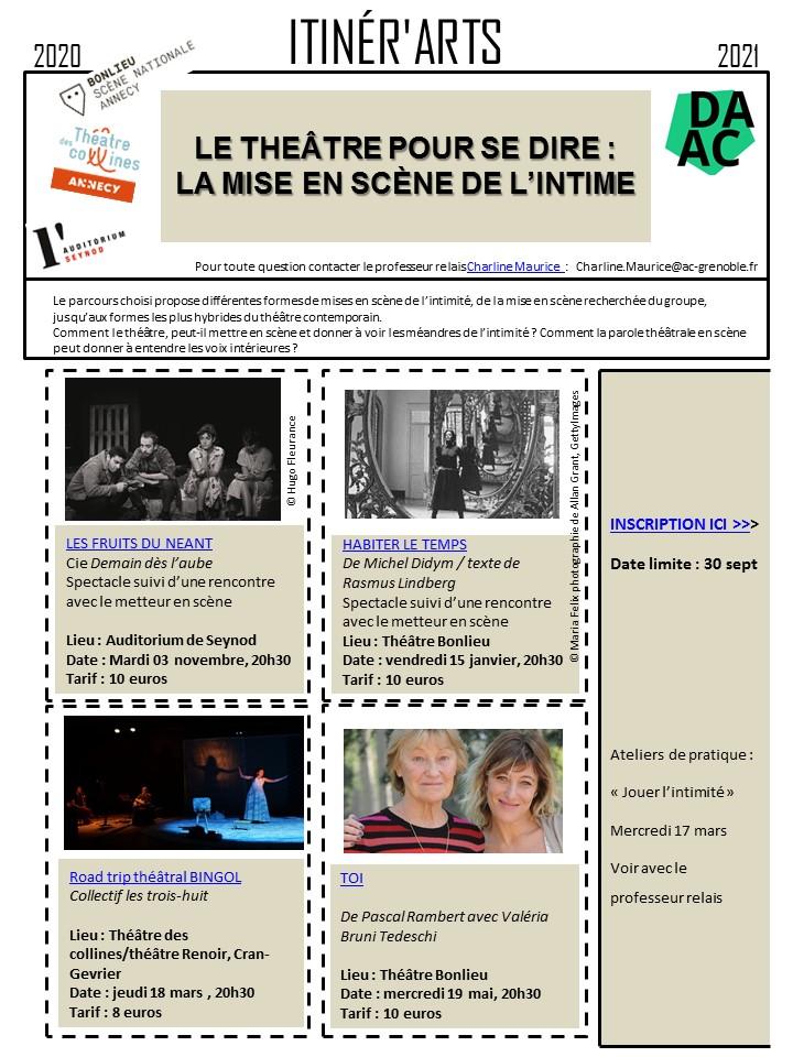 Itinérart théâtre 74