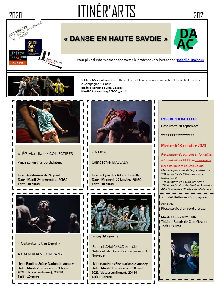 Itinérarts 74 Danse Haute Savoie 20-21
