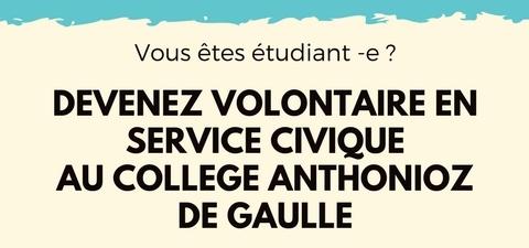Devenez volontaire en service civique au collège