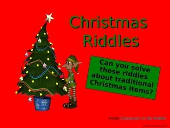 Christmas Riddles.Xmas Riddles 2019 6ee College Revesz Long Crest