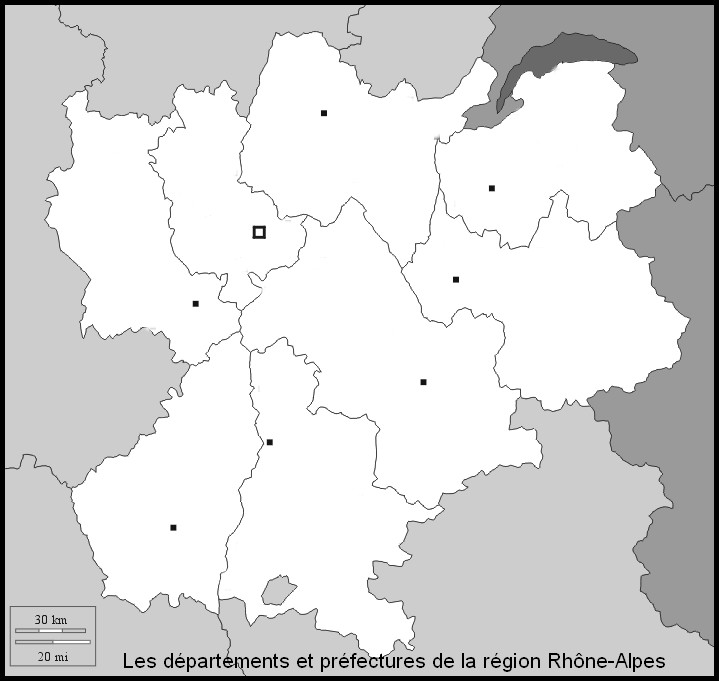 carte region rhone alpes