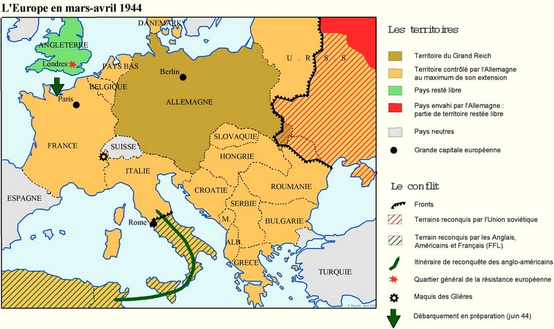 carte europe 1944
