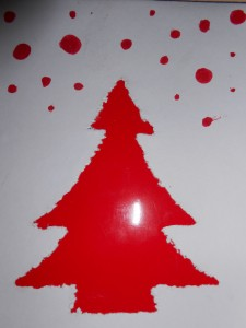 sapin rouge